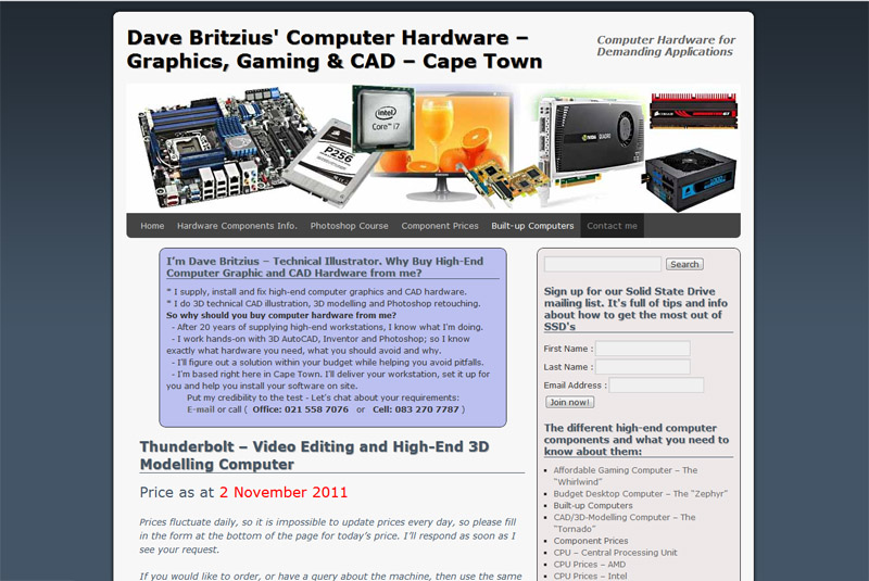 Previous site for davebritzius.com