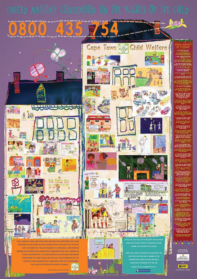 Children's rights poster for Cape Town Child Welfare
