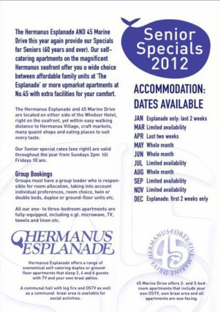 Design: Flyer for Hermanus Esplanade