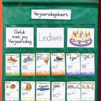 Illustration: Birthday chart, classroom materials, early childhood development