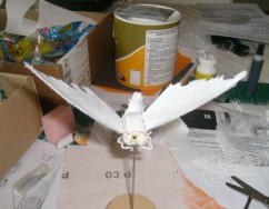 Moth puppet basic structure - Tallulah (a very small love story)