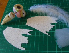 Putting together the moth puppet; Tallulah (a very small love story)
