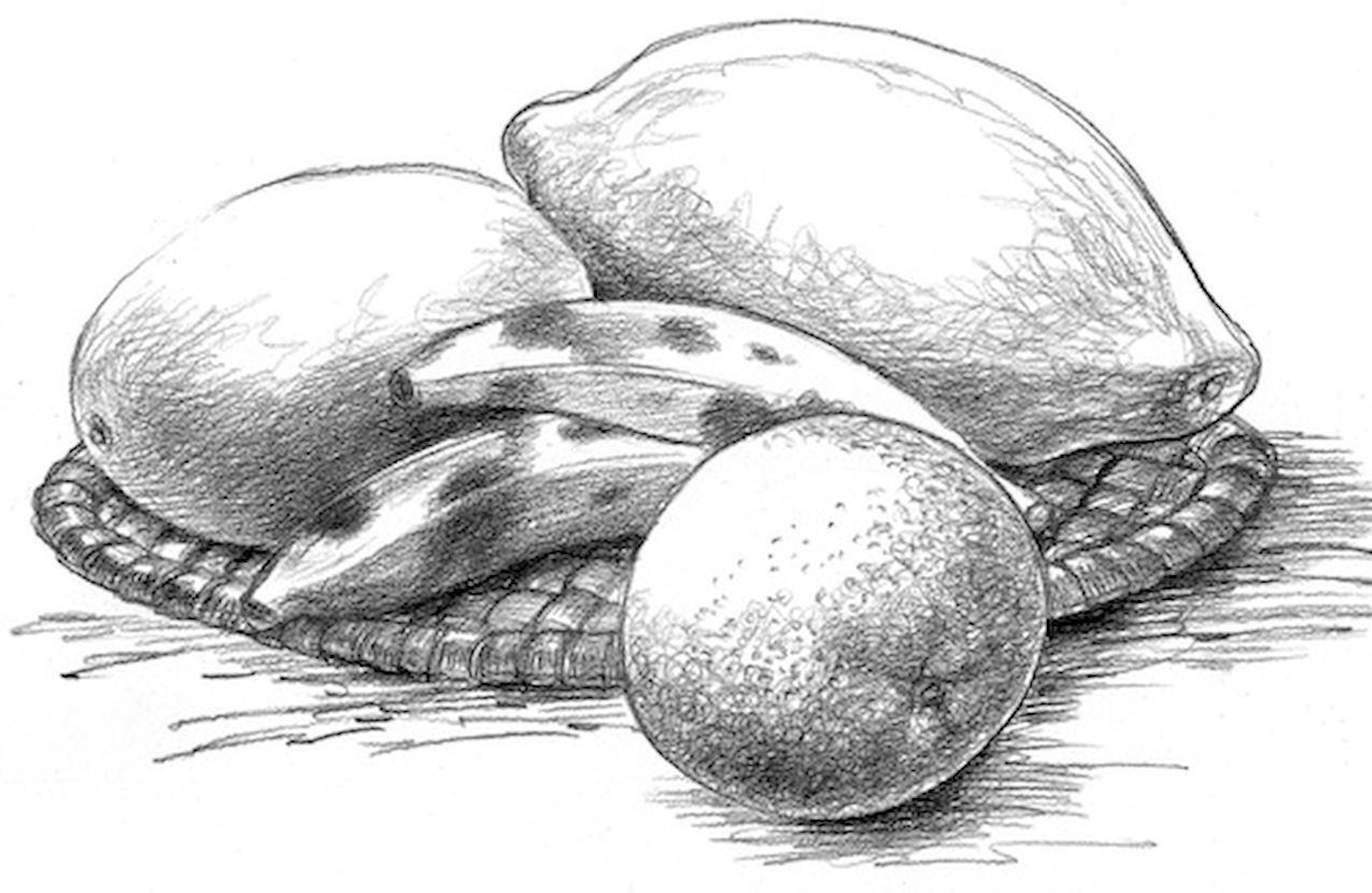 Vegetables drawing pencil