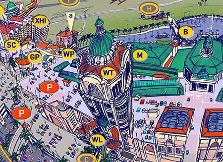Map/poster (Canal Walk, Century City, Cape Town)