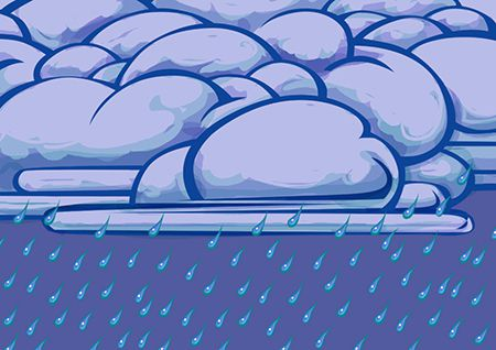 'Weather: Rainy': Classroom materials (ECD Works, Cape Town)