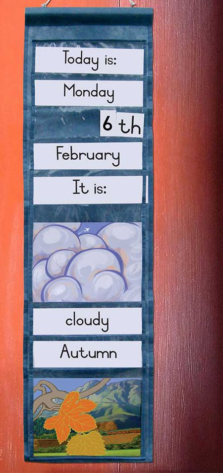 'Weather' wall hanging: classroom materials (ECD Works, Cape Town)