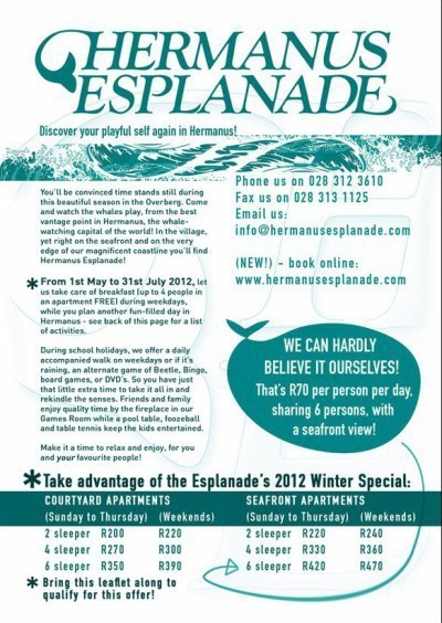 H. Esplanade A5 Flyer: Winter (F)
