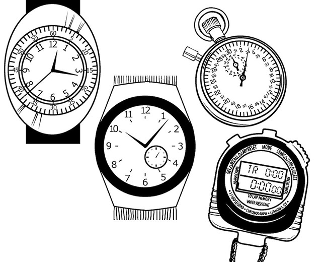 Different timepieces