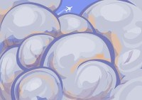 Illustration: cloudy (part of weather chart set)