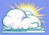 Illustration: partly cloudy (part of weather chart set)