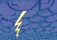 Illustration: stormy (part of weather chart set)