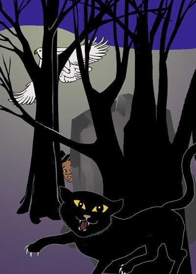 Illustration: African languages: Stories - 'Lerato and the Cat' Pg 14