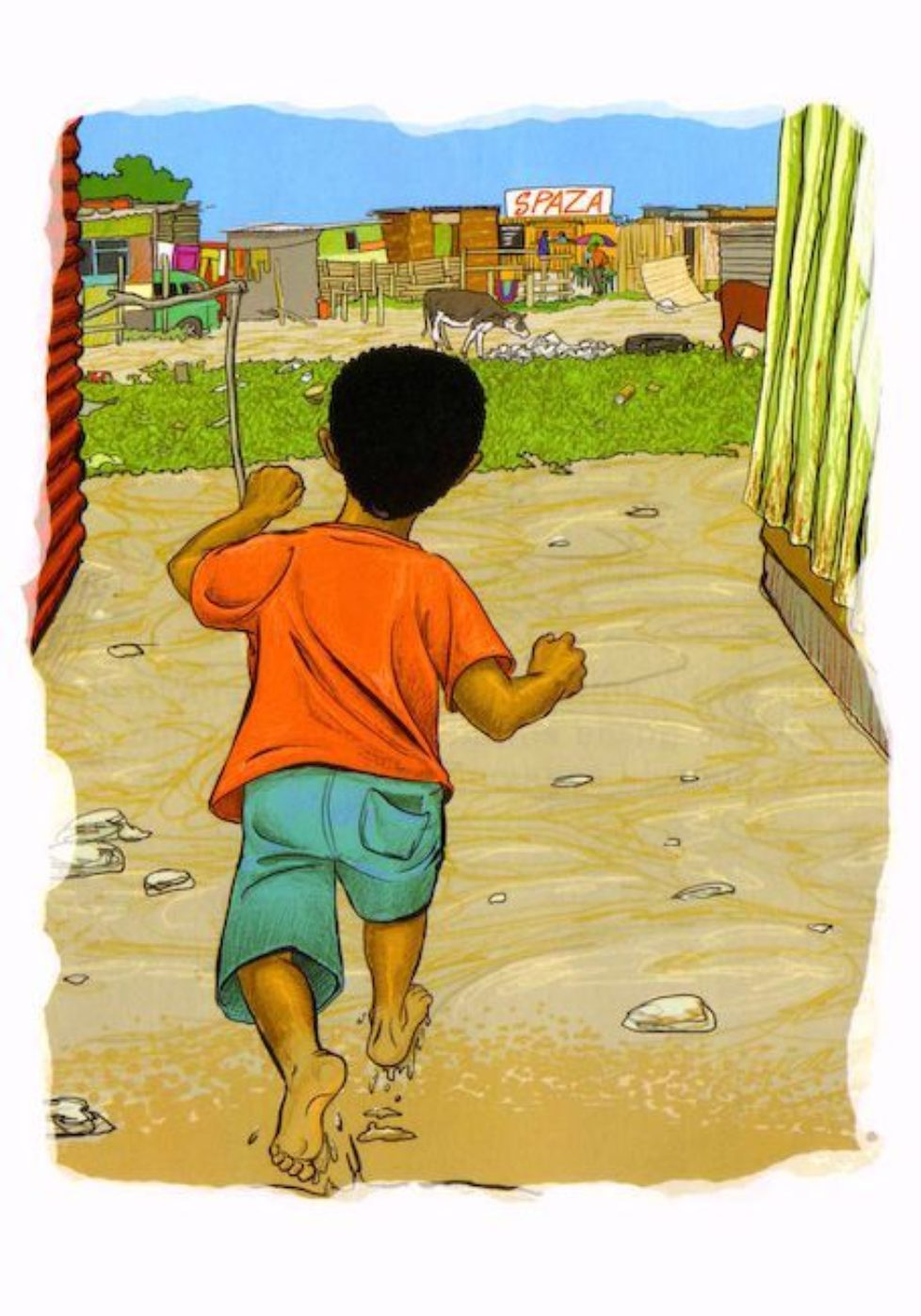 Pg 10 Themba's Day - illustration children's story