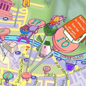 Detail of UCT map 01 in Icing style