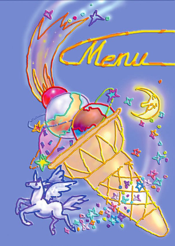 Icing style: menu front cover