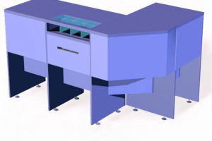 3D graphics - Artists impression; Durmail counter, SA Post Office