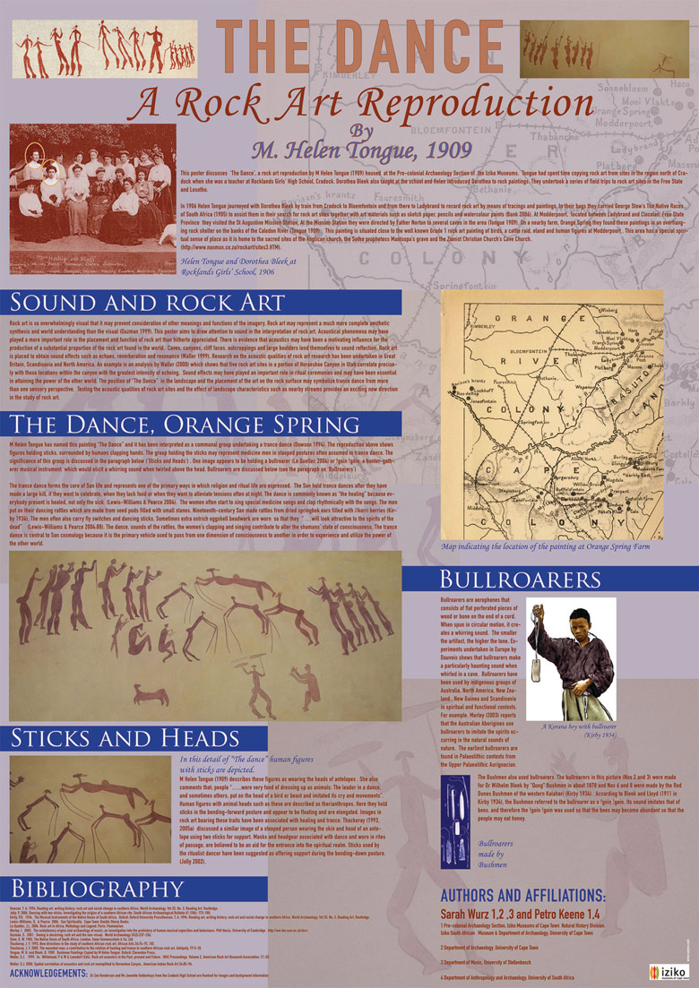 Poster announcing archeology lecture, Iziko Museum